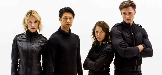 Beth Riesgraf, Harry Shum Jr., Abby Miller and Hartley Sawyer for CAPER (Image Credit: Geek and Sundry)