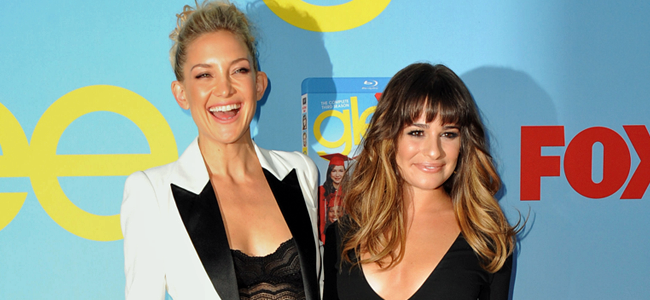 Kate Hudson and Lea Michele at the GLEE Season Four Premiere (Image Credit: Scott Kirkland/FOX))