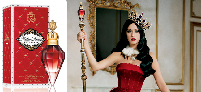 Killer Queen Advertisement featuring Katy Perry (Image Credit: Katy Perry)
