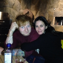 Ed Sheeran and Courteney Cox (Image credit: Instagram/Ed Sheeran @teddysphotos)
