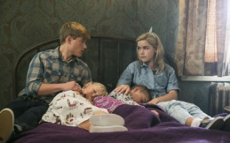 Mason Dye as Christopher and Kiernan Shipka as Cathy in FLOWERS IN THE ATTIC (Image Credit: James Dittiger/Lifetime)