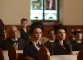 Christina Ricci and Clea DuVall in LIZZIE BORDEN TOOK AN AX (Image Credit: Chris Reardon/Lifetime)