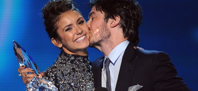 Nina Dobrev and Ian Somerhalder at The 40th Annual People's Choice Awards (Image Credit: Kevin Winter/Getty)