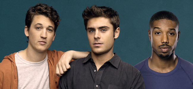 Miles Teller, Zac Efron and Michael B. Jordan for THAT AWKWARD MOMENT (Image Credit: Focus Features)