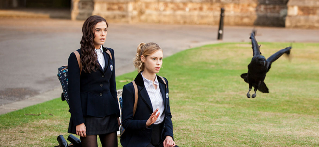 Zoey Deutch as Rose Hathaway and Lucy Fry Lissa Dragomir as in VAMPIRE ACADEMY: BLOOD SISTERS (Image Credit: The Weinstein Company)