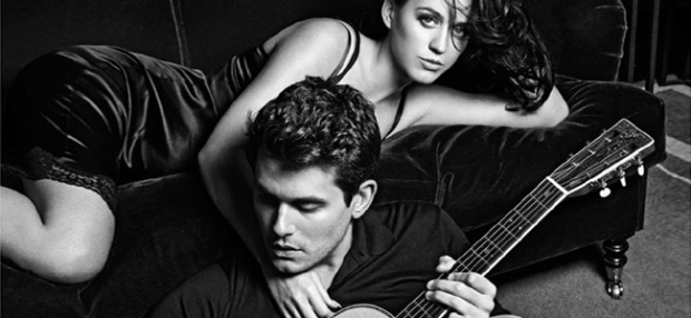 "Katy Perry and John Mayer on the ""Who You Love"" Album Cover (Image Credit: John Mayer)"