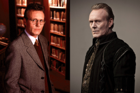 Anthony Head in BUFFY THE VAMPIRE SLAYER (Image Credit: Warner Bros.) / Anthony Head in MERLIN (Image Credit: BBC)