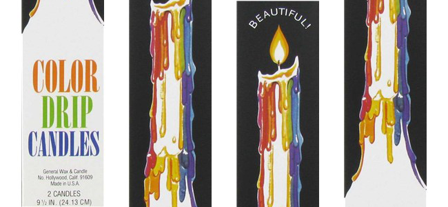 Color Drip Candles (Image Credit: Urban Outfitters)