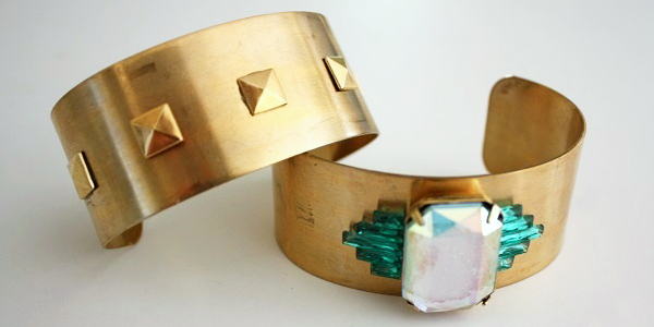 DIY Jeweled and Studded Cuffs (Image Credit: Life in Mod)