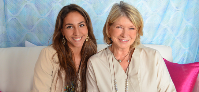 TDQ Reporter Kelsey Cortez and Martha Stewart (Image Credit: Victor Mascitelli/The Daily Quirk)