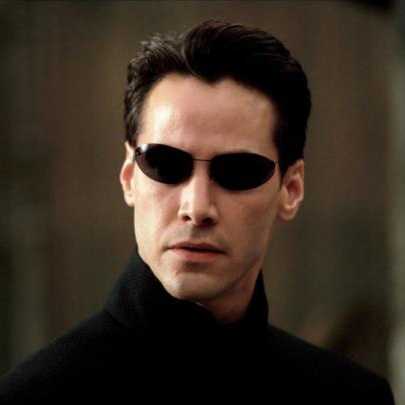 Keanu Reeves as New in THE MATRIX RELOADED (Image Credit: Warner Bros. Pictures)
