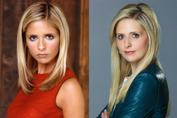 Sarah Michelle Gellar BUFFY THE VAMPIRE SLAYER (Image Credit: Warner Bros.) / Sarah Michelle Gellar in THE CRAZY ONES (Image Credit: CBS)