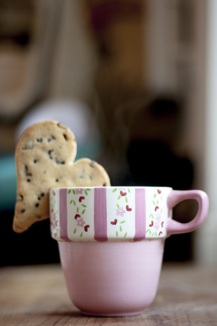 Dark Chocolate Chip and Dried Cranberry Shortbread Hearts Recipe by ...