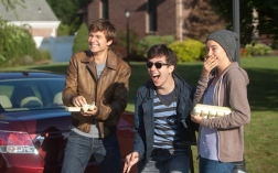 Ansel Elgort as Gus, Nat Wolff as Isaac and Shailene Woodley as Hazel in THE FAULT IN OUR STARS (Image Credit: James Bridges/20th Century Fox Film)