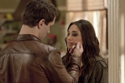 Sam Witwer as Aidan Waite and Meaghan Rath as Sally Malik in BEING HUMAN (Image Credit: Pana Pantazidis / Syfy)
