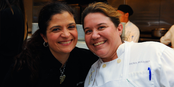 Chef Alex Guarnaschelli and Chef Dena Marino at SOBEWFF (Image Credit: Getty Images)
