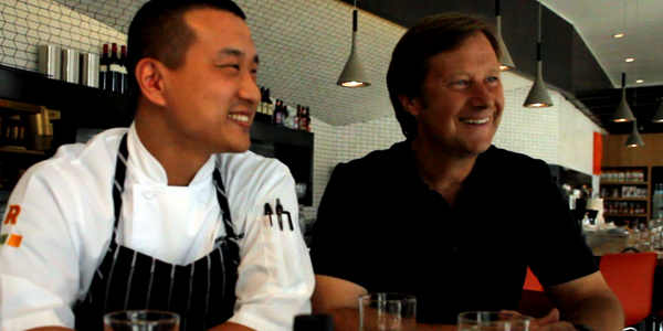 Head Chef Kayson Chong and Executive Chef Hans Röckenwagner at Café Röckenwagner (Image Credit: Chad Bell/The Daily Quirk)