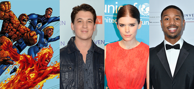 Fantastic Four (Image Credit: Marvel) / Miles Teller (Image Credit: Jason Merritt/Getty Images) / Kate Mara (Image Credit: Joella Marano) / Michael B. Jordan (Image Credit: Andrew H. Walker/Getty Images for DIFF)