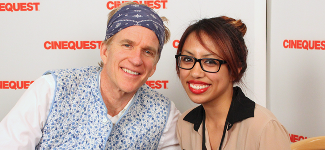 Matthew Modine with The Daily Quirk Correspondent Ashley Bulayo (Image Credit: Franko-Niko Valencia/The Daily Quirk)