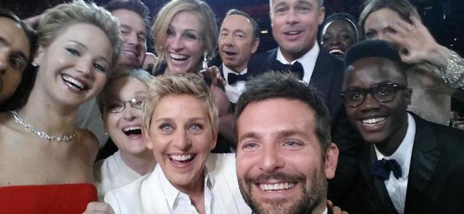 Ellen's Oscar Selfie (Image Credit: Ellen DeGeneres/Twitter)
