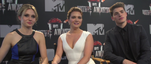 Rita Volk, Katie Stevens and Gregg Sulkin of FAKING IT (Image Credit: MTV)