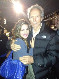 Renée Marino and Clint Eastwood (Image Credit: Renée Marino/Twitter)