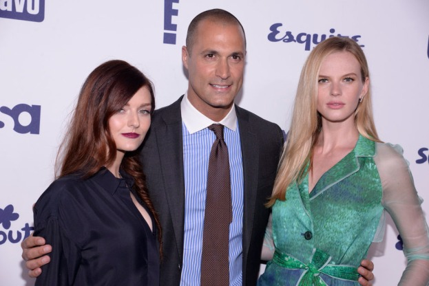 Lydia Hearst, Nigel Barker and Anne V. of THE FACE (Image Credit: Dave Kotinksy/NBCUniversal Cable Entertainment)
