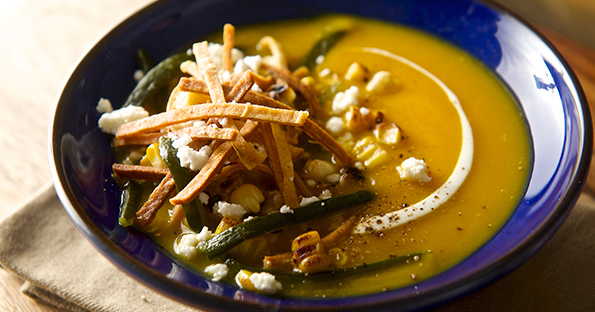 Roasted Pumpkin-Poblano Soup (Image Credit: Yes, More Please!)