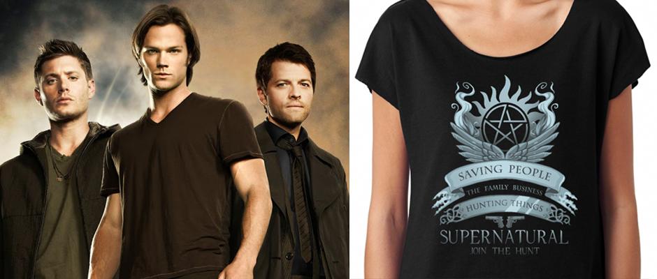 supernatural fan designed t shirts to begin sales today. Black Bedroom Furniture Sets. Home Design Ideas