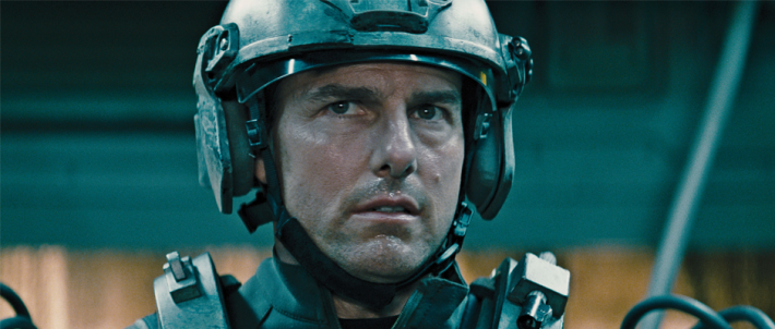 "Tom Cruise as ""Cage"" in EDGE OF TOMORROW (Image Credit: Warner Bros.)"