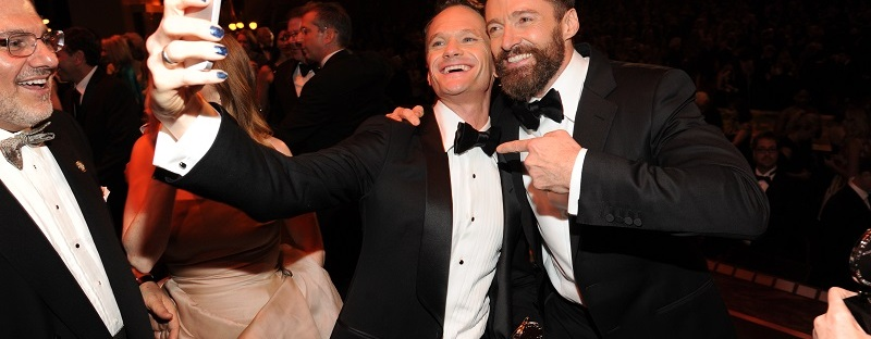 Tony Award Winner Neil Patrick Harris with Hugh Jackman at the 68th Annual Tony Awards (Kevin Mazur/Getty Images)