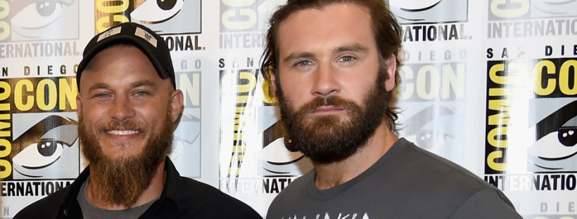 Travis Fimmel and Clive Standen for VIKINGS (Image Credit: Ethan Miller/Getty Images for A+E Networks)