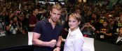 Theo James and Shailene Woodley at the INSURGENT SDCC Fan Event (Image Credit: Lionsgate)