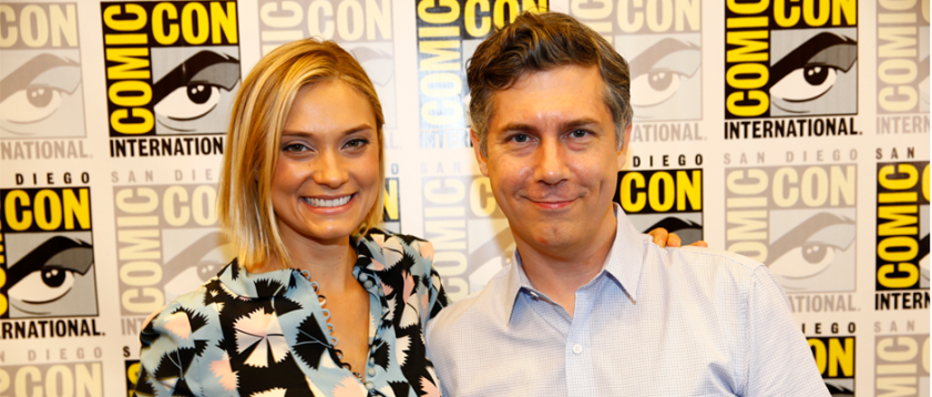 Spencer Grammer and Chris Parnell for RICK AND MORTY (Image Credit: Turner Broadcasting)