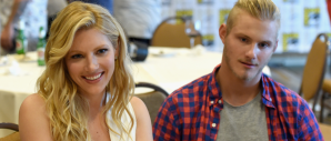 Katheryn Winnick and Alexander Ludwig for VIKINGS (Image Credit: Ethan Miller/Getty Images for A+E Networks)