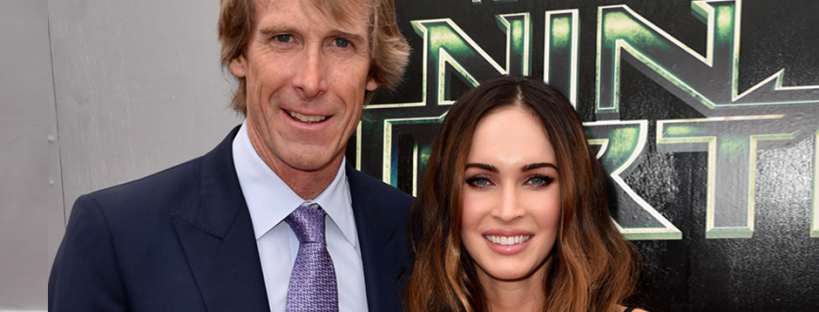 Michael Bay and Megan Fox attend the premiere of TEENAGE MUTANT NINJA TURTLES (Image Credit: Kevin Winter/Getty Images for Paramount Pictures)