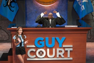 Melanie Iglesias and Donnell Rawlings in GUY COURT (Image Credit: MTV)