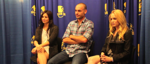 Katrina Law, Paul Blackthorne and Caity Lotz for ARROW at Dragon Con (Image Credit: Brian Skroback / The Daily Quirk)