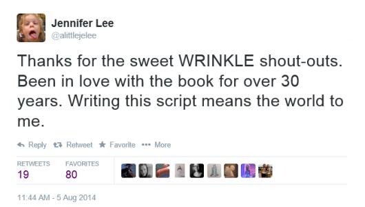 Jennifer Lee Tweet