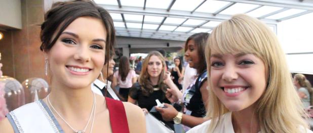Miss Teen USA 2014 K. Lee Graham and TDQ Correspondent Lauren Gambino (Image Credit: Sean Torenli / The Daily Quirk)