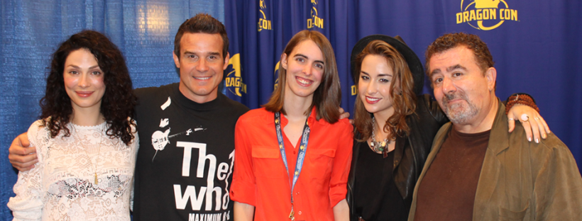 The Cast of Warehouse 13 with TDQ Correspondent Chelsie Skroback (Image Credit: Brian Skroback / The Daily Quirk)