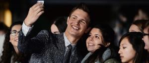 Ansel Elgort with fans (Image Credit: Dave J Hogan/Getty Images for Paramount Pictures International
