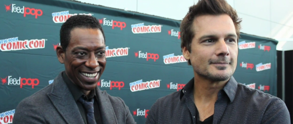 Orlando Jones and Executive Producer Len Wiseman for SLEEPY HOLLOW (Image Credit: Dan Maiorana / The Daily Quirk)