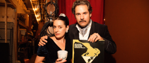 Paget Brewster & Paul F. Tompkins at THRILLING ADVENTURE HOUR (Image Credit: Mindy Tucker)