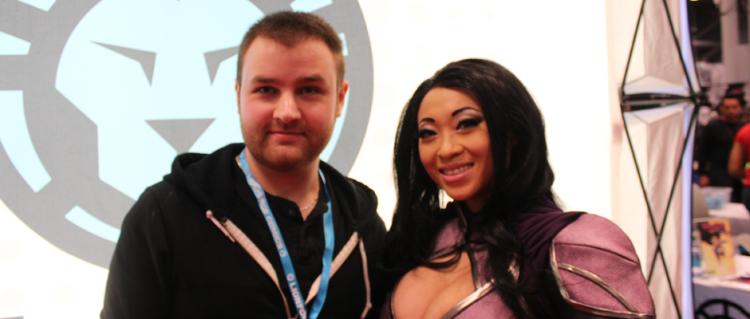 TDQ Correspondent George Gebhardt and World Famous Cosplayer Yaya Han (Image Credit: Dan Maiorana / The Daily Quirk)