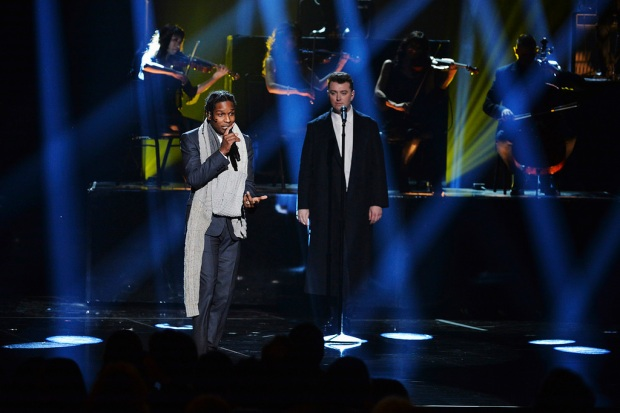 A$AP Rocky and Sam Smith performing at the 2014 AMERICAN MUSIC AWARDS (Image Group LA/ABC)
