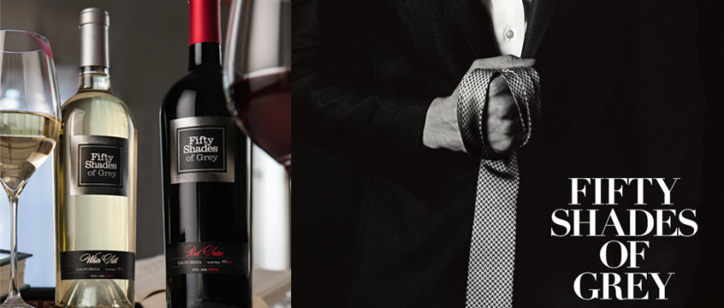 FIFTY SHADES OF GREY Poster (Image Credit: Focus Features) / FIFTY SHADES OF GREY Wine (Image Credit: Fifty Shades Wine)