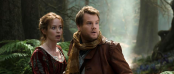 Emily Blunt and James Corden in INTO THE WOODS (Image Credit: Peter Mountain/Disney)