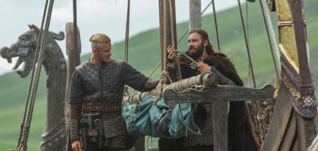 Alexander Ludwig and Clive Standen in VIKINGS (Image Credit: Jonathan Hession / HISTORY)