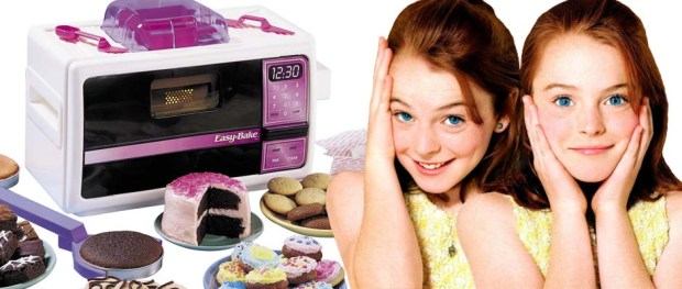 Easy-Bake Oven (Image Credit: Hasbro) / Lindsay Lohan in THE PARENT TRAP (Image Credit: Walt Disney Pictures)
